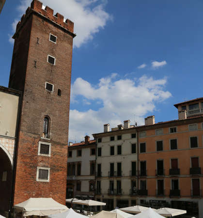 torment: Ancient Tower of Prisons called Tower of Torment in the city of Vicenza in Italy Stock Photo
