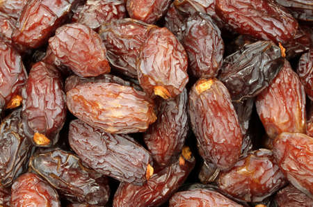 deglet: dried dates for sale in the North African market Stock Photo