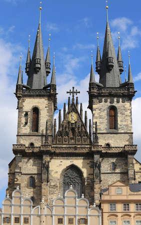 big Church of Our Lady before Tyn in Prague Czech Republic Europe
