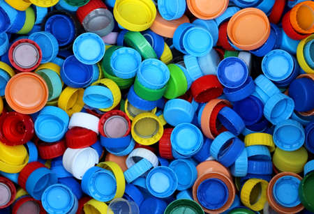 repurpose: collection of plastic caps for recycling the material and does not pollute the environment