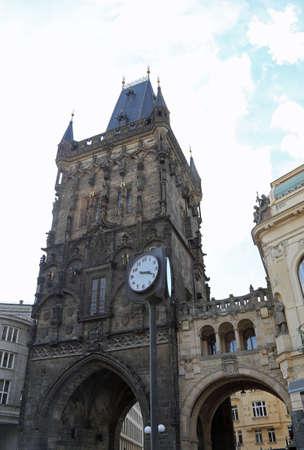 The Powder Tower or Powder Gate in Czech Republic Europe