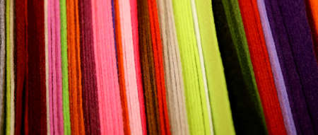matting: Background of clothes and felt for handicrafts creations Stock Photo