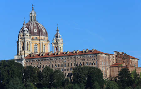Cathedral of Superga in the hill near Turin City in Italy Banco de Imagens