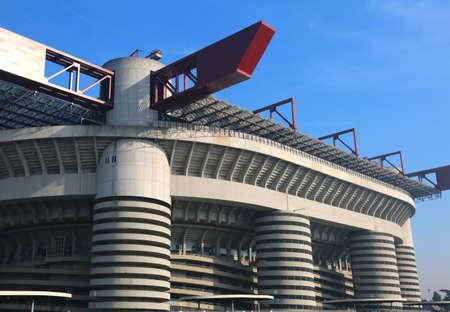 stadia: Milan, MI, Italy - December 9, 2016: Football stadium called Stadio Meazza, but commonly known as San Siro Editorial