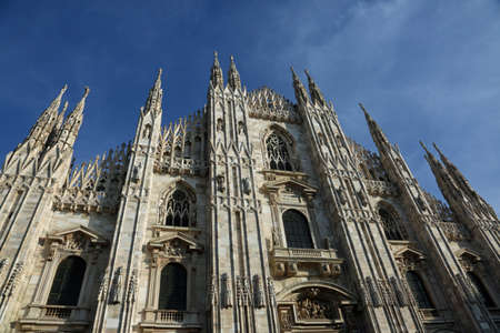 Milan Italy Great Gothic Cathedral called Duomo di Milano