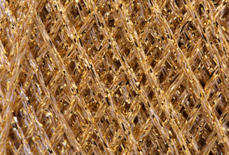 luxuriously: macro background of many string in golden colors