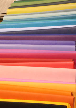 colorful background of tanned leather for processing fashion accessories
