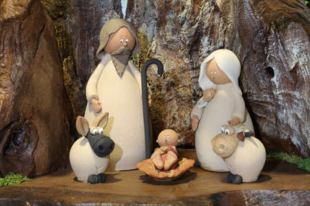 nativity scene with the Holy Family and the little baby Jesus