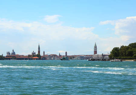 Panorama of the island of Venice with the Adriatic sea