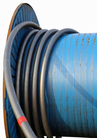 ample: Big coil for laying electrical cables or fiber optic
