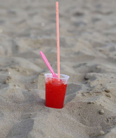sweet frozen  syrup for a refreshing break at the seaside in the luxurious resort Stock Photo