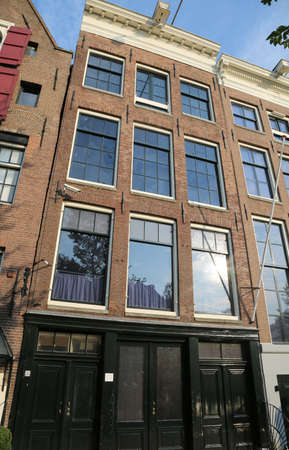 house of Anne Frank the Jewish girl who lived in Amsterdam during World War II