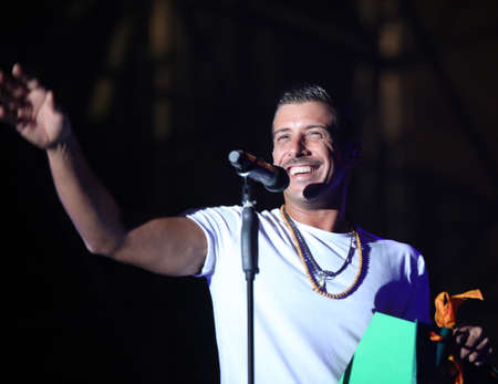 Vicenza, VI, Italy - September 5, 2017: Live Concert of GABBANI FRANCESCO an Italian singer-songwriter and musician. Gabbani is winner of 67th festival in San Remo City in Italy