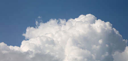 big wide white cloud in the blue sky Stock Photo