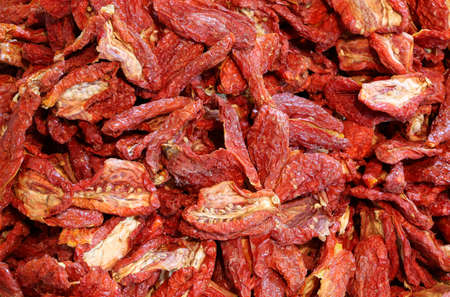 background of dried ripe tomatoes tomatoes in mediterranean country