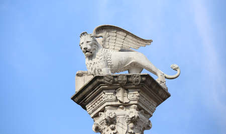 white winged  lion symbol of the Serenissima Repubblica that means Serene Republic of Venice in Italy