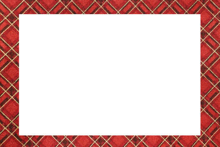 Red classic Tartan type Scottish frame with a white space to write a custom message