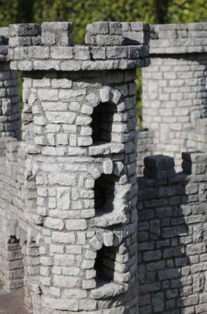 tower of a model medieval castel in playground