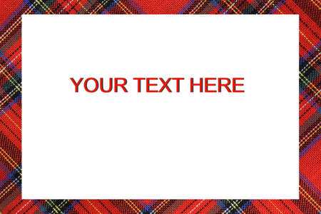 Bordered frame with Tartan type Scottish designs and text to write a custom message