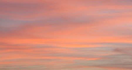 Romantic sky with colorful clouds during the sunset Banco de Imagens