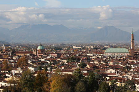Wonderful view of VICENZA city in Italy Stock Photo