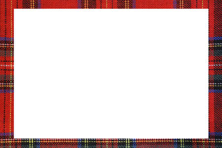 Classic RedTartan type Scottish frame with a white space to write a custom message