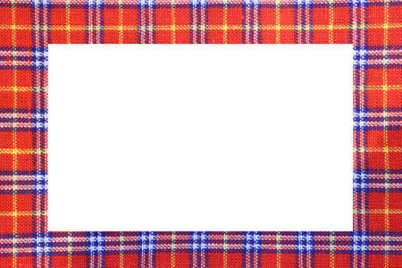 Tartan type Scottish frame with a white space to write a custom message Stock fotó