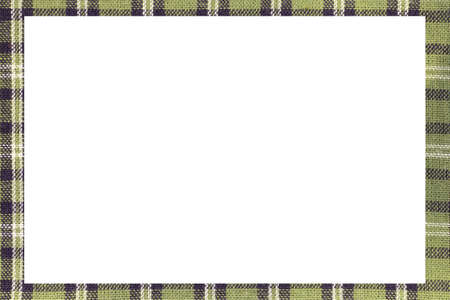 green Tartan type Scottish frame with a white space to write a custom message