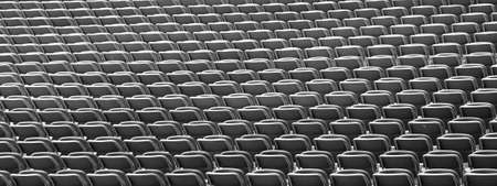 Stages of the stadium with empty seats waiting for the start of the match
