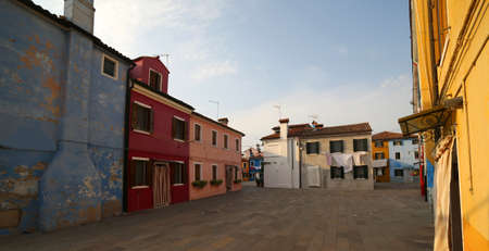 Burano in Italy is an island near Venice famous for its colorful houses