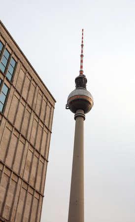 Berlin, Germany - August 17, 2017: Fernsehturm is an high tower of TV in the place called Alexanderplatz Deutschland
