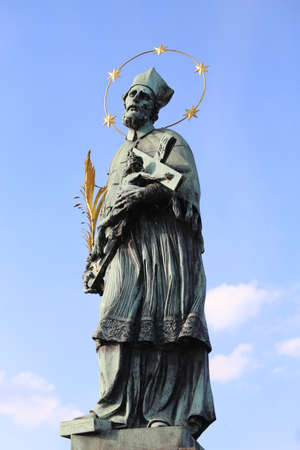 statue of Saint John of Nepomuk saint martyr in Czech Republic and in all Europe