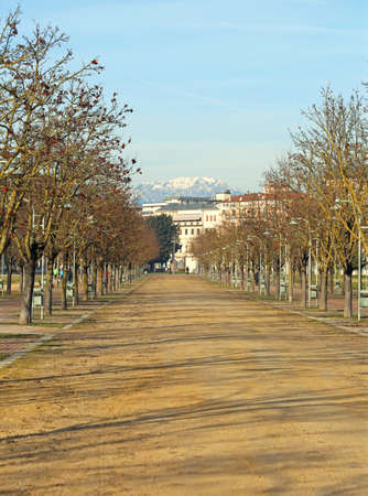 Main Public park called CAMPO MARZO in Vicenza in Northern Italy