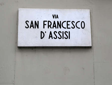 Road Name of a Famous Saint in Italy called SAN FRANCESCO ASSISI