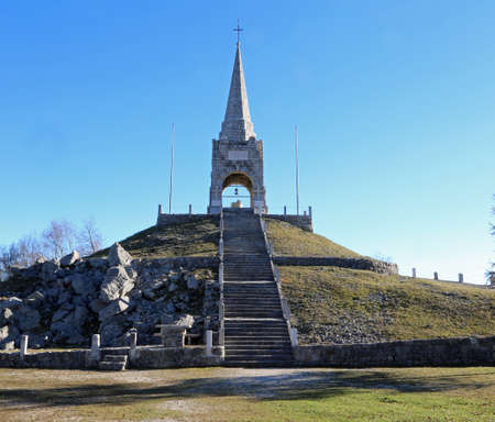 Tonezza del Cimone, VI, Italy - November 1, 2015: Ossuary of the Italian soldiers dead in the First World War