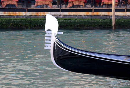 typical venetian boat called GONDOLA in Italian language in Venice Isle in Italy