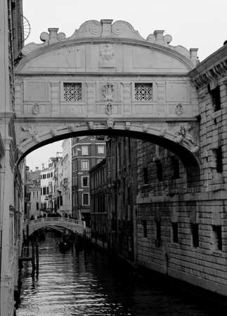 Ancient bridge of sighs historical building in Venice Island in Italy Stock Photo