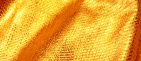 fabrics with golden color of pieces of leather working