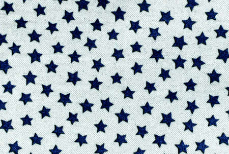 fabric with many blue stars