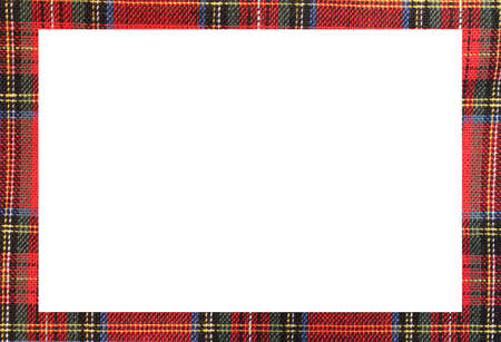 Rectangle frame with the texture of the famous Scottish tartan fabric