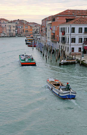 Venice, Italy - February 5, 2018: Grand Canal also called Canal Grande in Italian Language and more boats