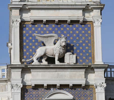 Winged Lion the symbol of Venice Italy Stock Photo