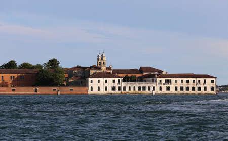 Venice Italy Buildings of the Benedictines in San Servolo Island in the Venetian Lagoon
