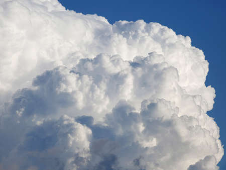 big soft white cumulonimbus cloud  and blue sky background 스톡 콘텐츠