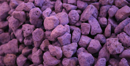 many rock of pumice in purple color