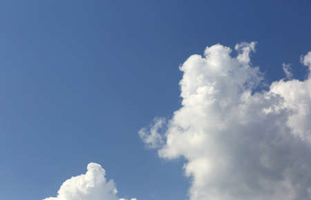 wihte clouds on blue sky in summer Stock Photo
