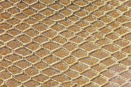 shimmering golden background of scales similar to snakeskin with rhomboid shapes Reklamní fotografie