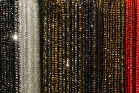 many necklaces for sale in the market