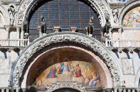 Great Ancient mosaic of the Basilica of St. Mark in Venice in Italy Stock Photo - 100704664
