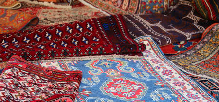 background of many persian and oriental rugs